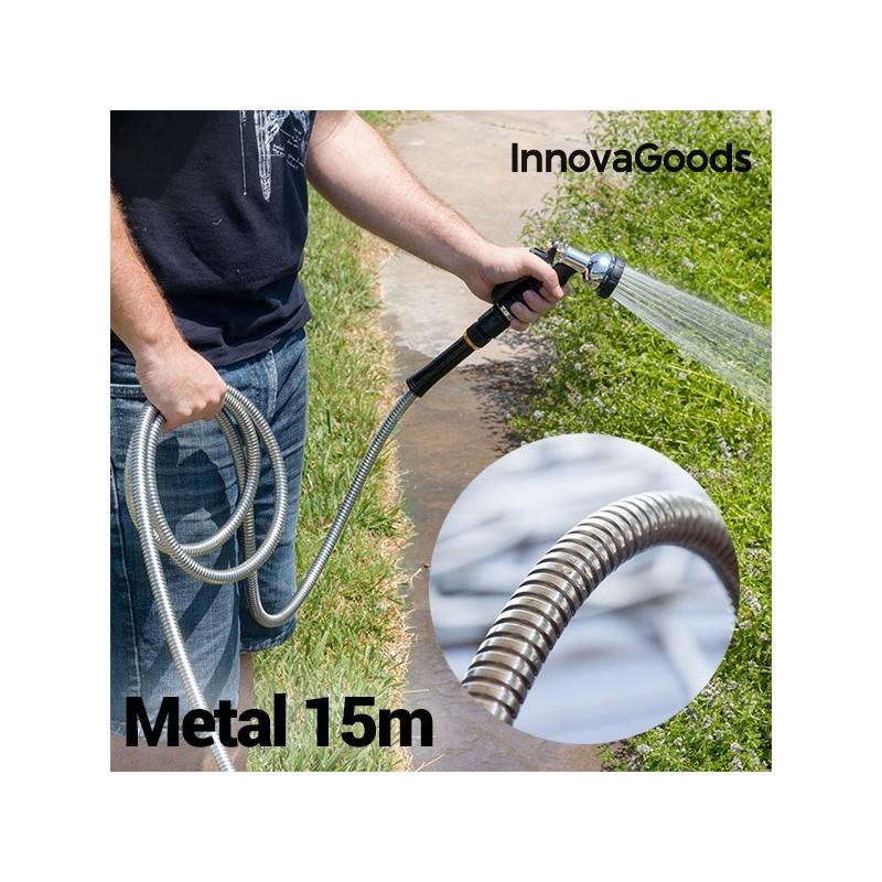 InnovaGoods Reißfester Metallschlauch (15 m)