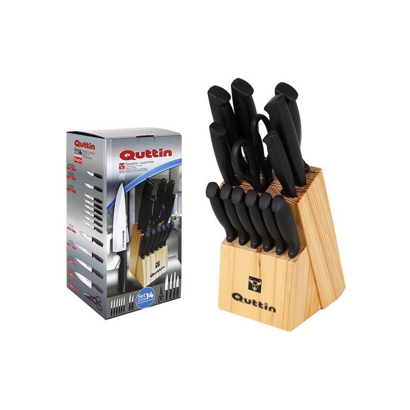 Messerset mit Holzhalterung Quttin Black (14 pcs)