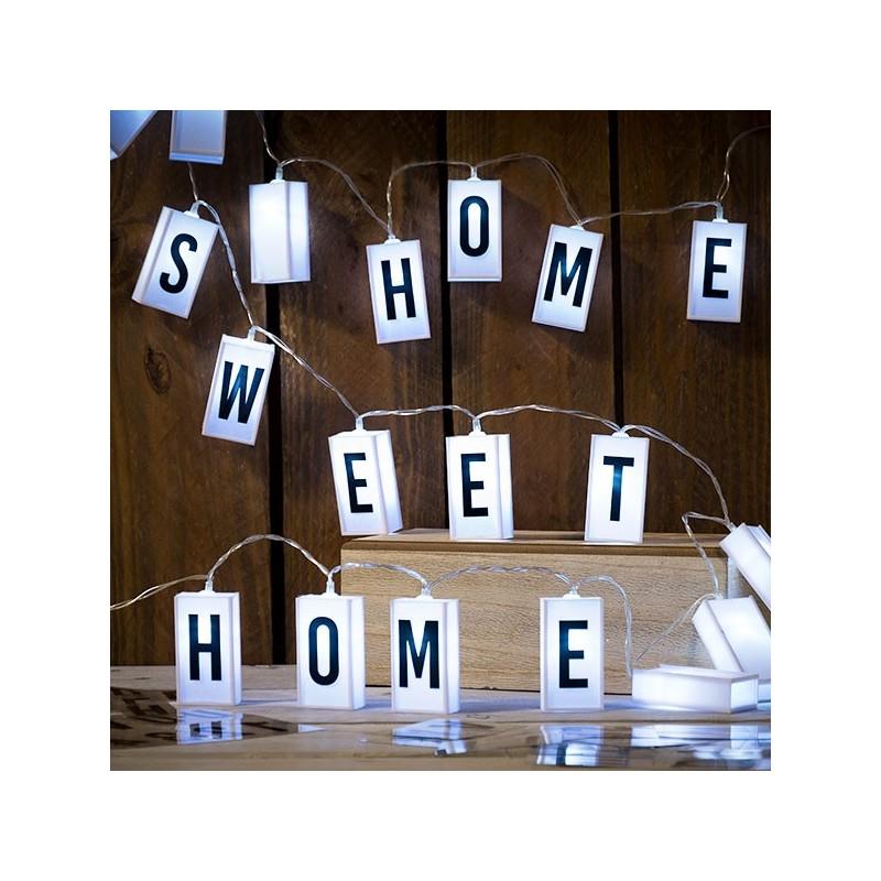 LED Lichterkette mit Buchstaben und Zahlen