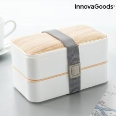 Hermetische Doppel-Lunchbox mit Besteck Bentower InnovaGoods