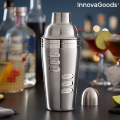 Cocktail-Shaker mit integrierten Cocktail-Rezepten Maxer