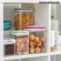 Stapelbares luftdichtes Küchenbehälterset Pilocks InnovaGoods 4