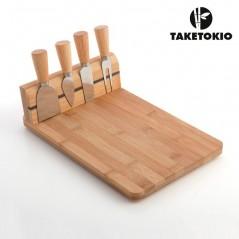 Bambus Käsebrett Set (5 Teile)