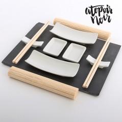 Sushiset mit Schieferplatte (11 Teile)