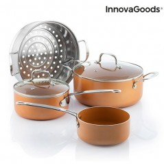 InnovaGoods Kitchen Cookware Topf- und Dampftopfset mit