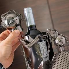 Friseur mit Kundin Metallflaschenhalter