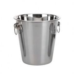 Eiskübel- und Cocktail-Shaker-Set aus rostfreiem Stahl (4 Stück)