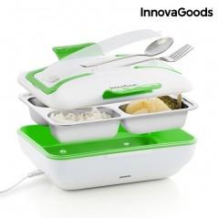 InnovaGooods Pro Elektrische Lunchbox 50W Weiß Grün