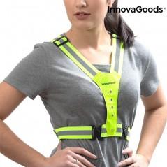 InnovaGoods Reflektierendes Gurtzeug mit LED für Sportler