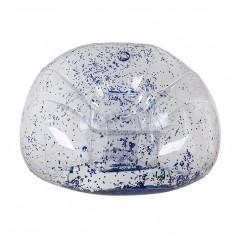 Aufblasbarer Sessel mit Blauem Glitter
