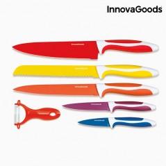 InnovaGoods 6-Teiliges Keramikmesserset mit Sparschäler