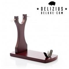 Elegance Plus Schinkenhalter aus Holz