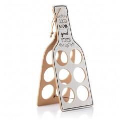 Good Wine Faltbarer Flaschenhalter aus Holz