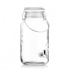 Ice Cold Drink Vintage Coconut Getränkespender aus Glas