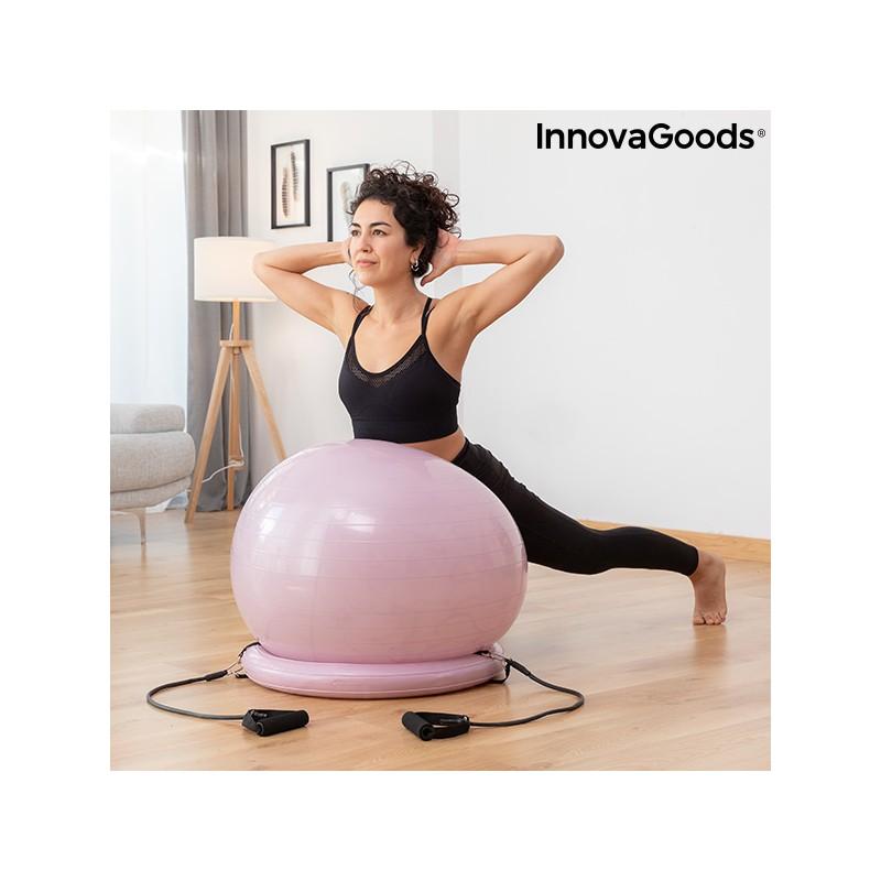 Yoga-Ball mit Stabilitätsring und Widerstandsbändern Ashtanball