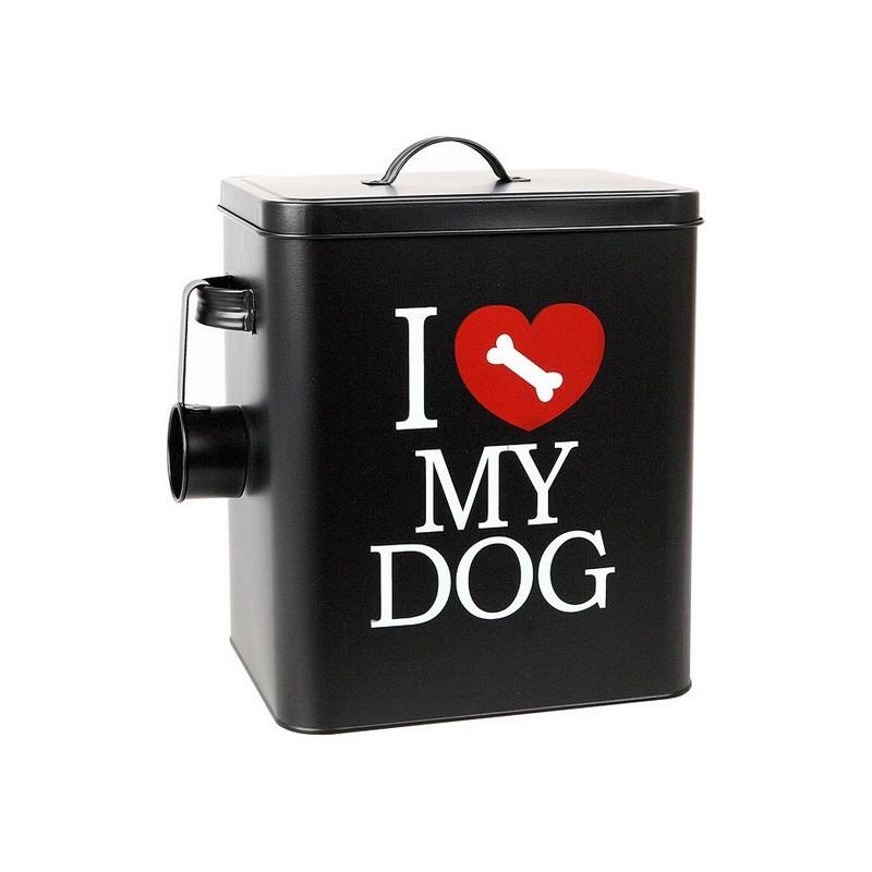 Hundefutter-Behälter aus Metall 112801 Schwarz (30 X 25,5 cm)