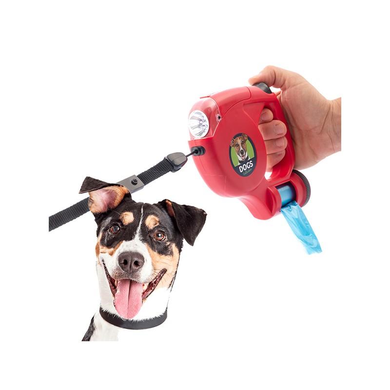 Hundegurt mit LED und Taschen 5 m