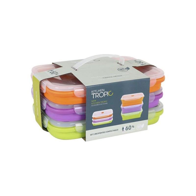 3 Lunchbox-Set Kitchen Tropic (3 uds)